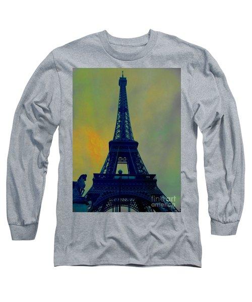 Evening Eiffel Tower Long Sleeve T-Shirt