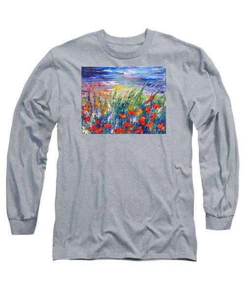 Evening Long Sleeve T-Shirt by Teresa Wegrzyn