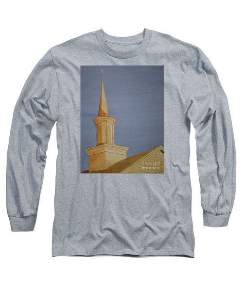 Long Sleeve T-Shirt featuring the painting Evening Worship by Stacy C Bottoms
