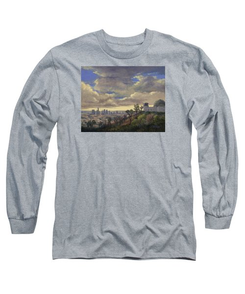 Expecting Rain Long Sleeve T-Shirt by Jane Thorpe