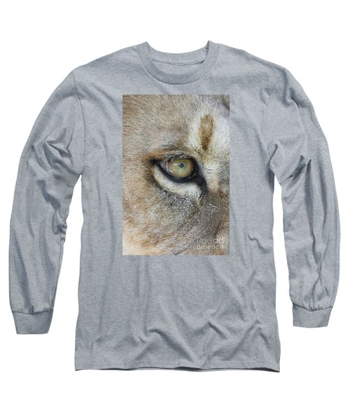 Long Sleeve T-Shirt featuring the photograph Eye Of The Lion by Judy Whitton