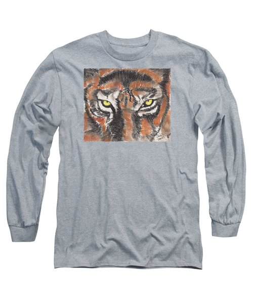 Eye Of The Tiger Long Sleeve T-Shirt by David Jackson