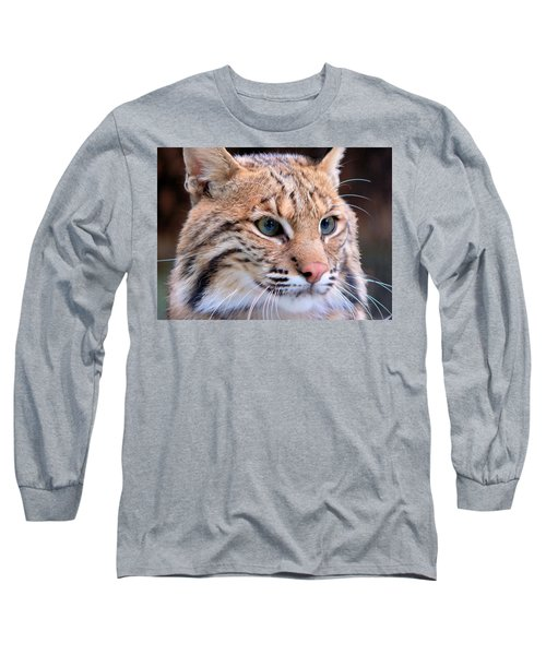 Long Sleeve T-Shirt featuring the photograph Eyes Of A Lynx by Rosalie Scanlon