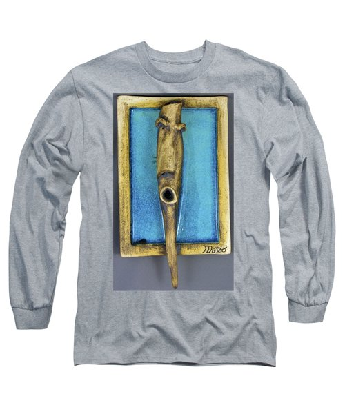 Faces #5 Long Sleeve T-Shirt by Mario Perron