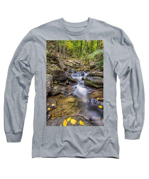 Fall Arrives At Amicalola Falls Long Sleeve T-Shirt