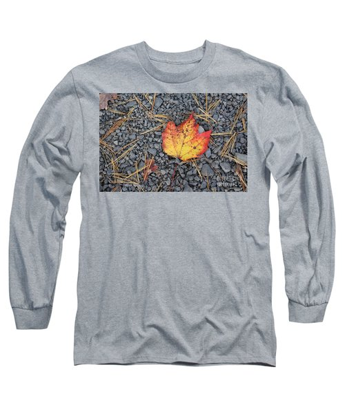 Long Sleeve T-Shirt featuring the photograph Fallen Leaf by Dora Sofia Caputo Photographic Art and Design