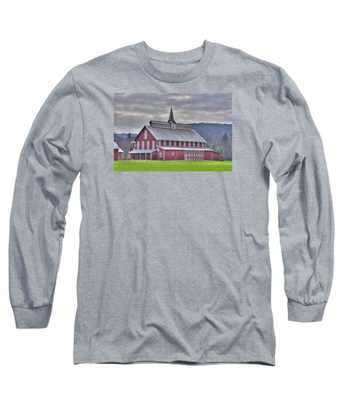 Fancy Red Barn Long Sleeve T-Shirt by Shelly Gunderson