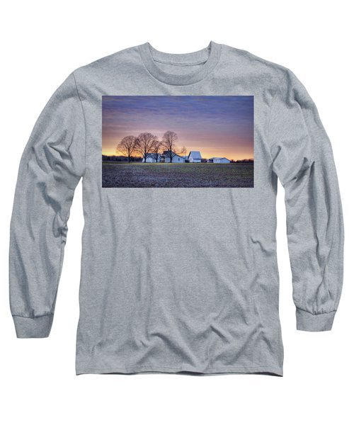 Farmstead At Sunset Long Sleeve T-Shirt
