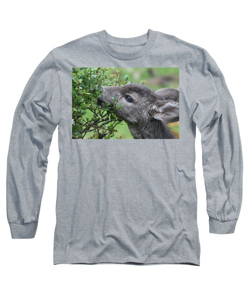 Fawn In The Rain Long Sleeve T-Shirt
