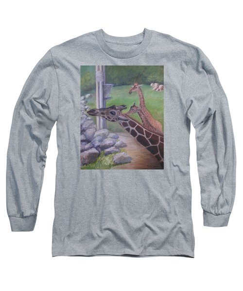 Feeding Time At The Jacksonville Zoo Long Sleeve T-Shirt