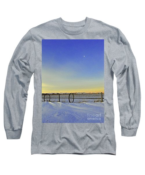 Fence And Moon Long Sleeve T-Shirt by Desiree Paquette
