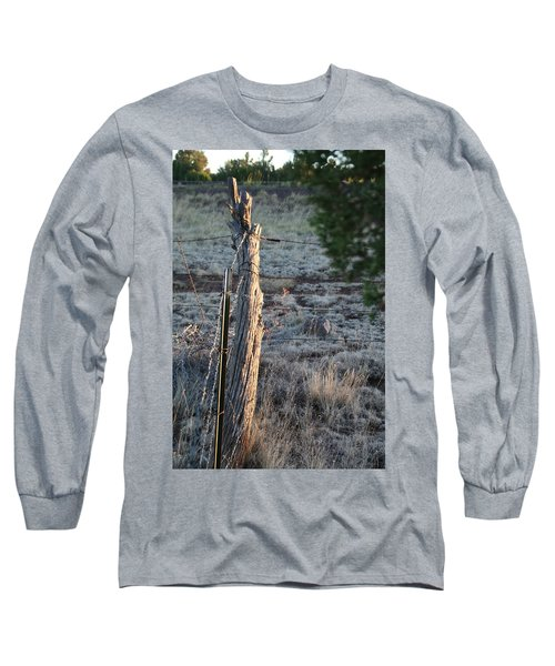 Long Sleeve T-Shirt featuring the photograph Fence Post by David S Reynolds