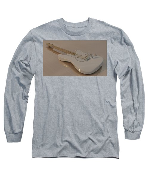 Fender Stratocaster In White Long Sleeve T-Shirt