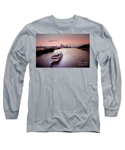 Ferry Boat At The Point In Pittsburgh Pa Long Sleeve T-Shirt