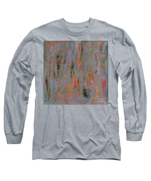 Long Sleeve T-Shirt featuring the painting Fibres Of My Being by Mini Arora