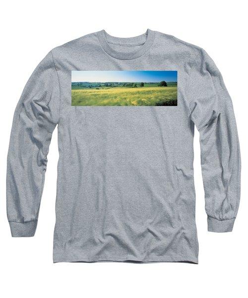 Field Near Barnstaple, North Devon Long Sleeve T-Shirt