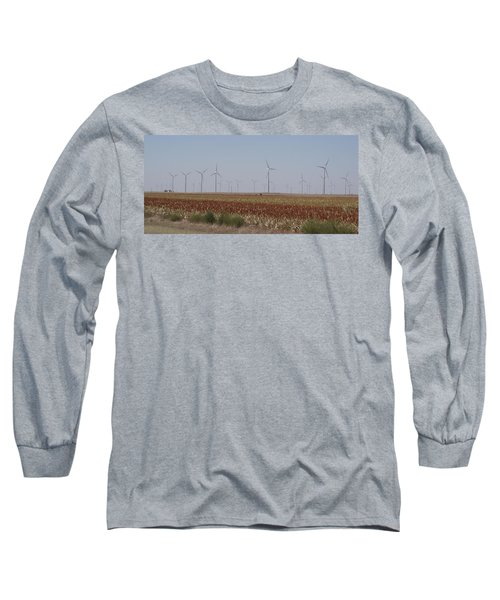 Long Sleeve T-Shirt featuring the photograph Field Of Wind by Fortunate Findings Shirley Dickerson