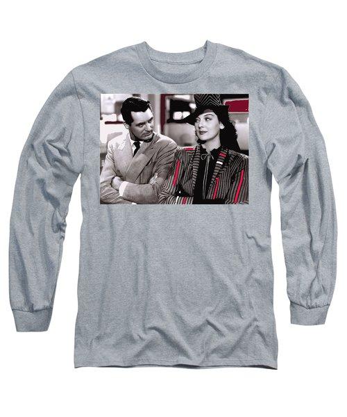 Film Homage Cary Grant Rosalind Russell Howard Hawks His Girl Friday 1940-2008 Long Sleeve T-Shirt