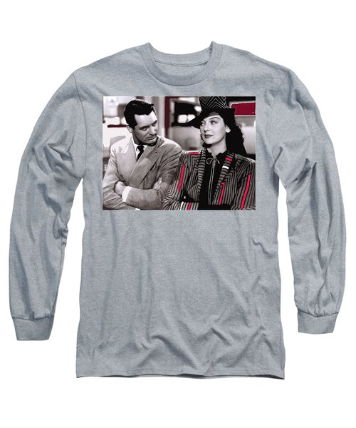 Film Homage Cary Grant Rosalind Russell Howard Hawks His Girl Friday 1940-2008 Long Sleeve T-Shirt