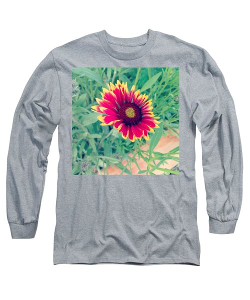 Fire Daisy Long Sleeve T-Shirt