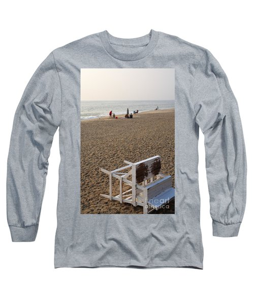 First On The Beach At Bethany Beach In Delaware Long Sleeve T-Shirt