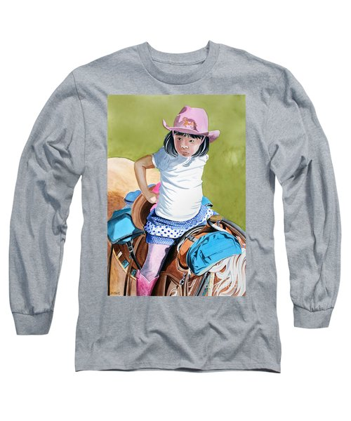 First Time Long Sleeve T-Shirt by Debbie Hart