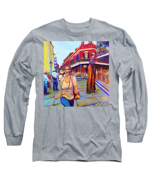 First Trip To New Orleans Long Sleeve T-Shirt by Jeanette Jarmon