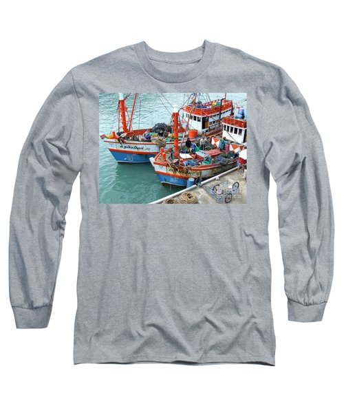 Long Sleeve T-Shirt featuring the photograph Fisherman by Andrea Anderegg