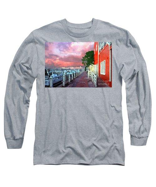 Long Sleeve T-Shirt featuring the photograph Fisherman's Village Marina Del Mar Ca by David Zanzinger