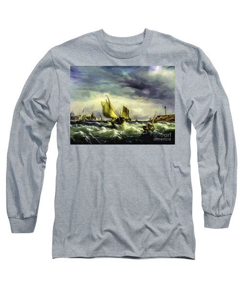 Long Sleeve T-Shirt featuring the digital art Fishing In High Water by Lianne Schneider