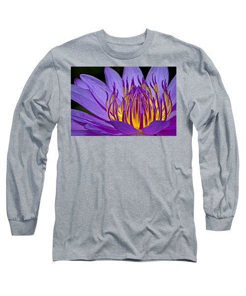 Long Sleeve T-Shirt featuring the photograph Flaming Heart by Susan Candelario