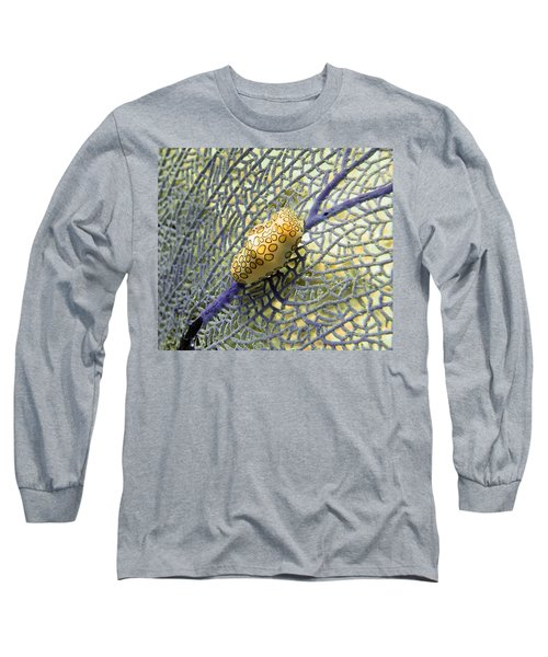 Flamingo Tongue Snail On Purple Fan Coral Long Sleeve T-Shirt