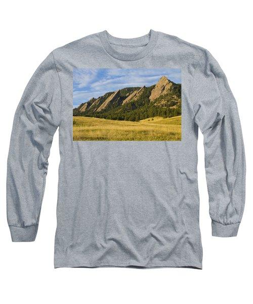 Flatiron Morning Light Boulder Colorado Long Sleeve T-Shirt