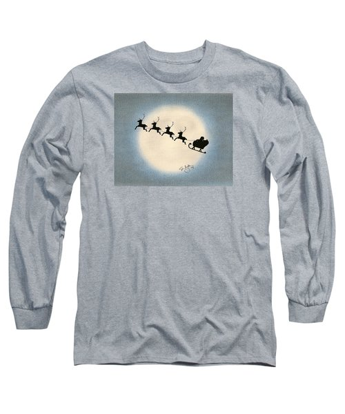 Long Sleeve T-Shirt featuring the drawing Flight 1224 by Troy Levesque