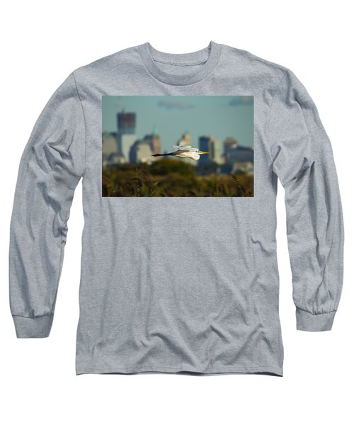 Flight Of The Great Egret Long Sleeve T-Shirt