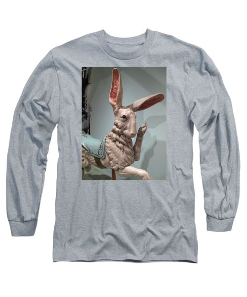 Long Sleeve T-Shirt featuring the photograph Flirting Rabbit At Heritage Museum by Barbara McDevitt