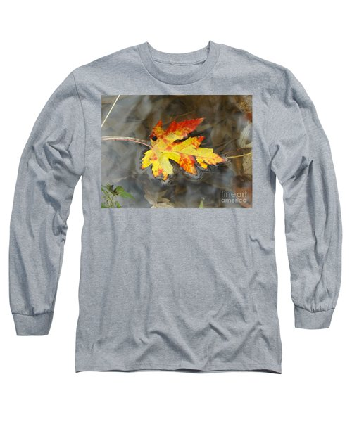 Floating Autumn Leaf Long Sleeve T-Shirt