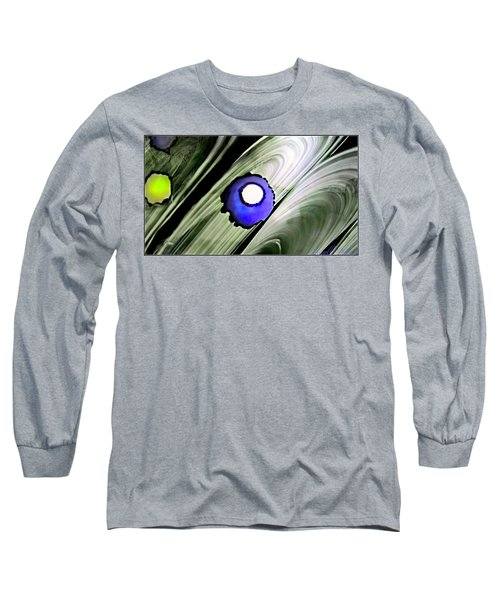 Floating Dot Abstract Alcohol Inks Long Sleeve T-Shirt by Danielle  Parent