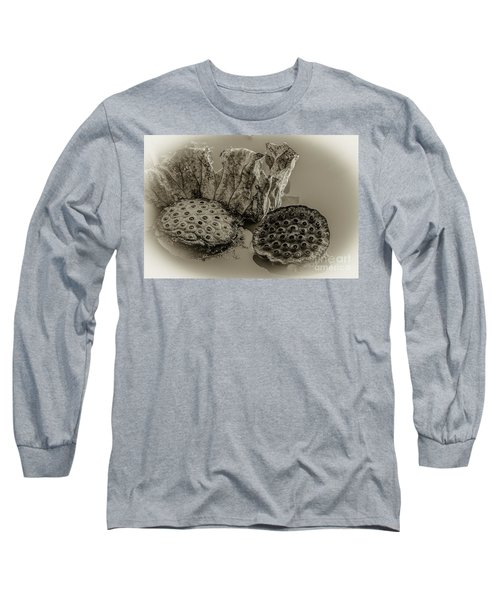 Floating Lotus Seed Pods 2 Long Sleeve T-Shirt