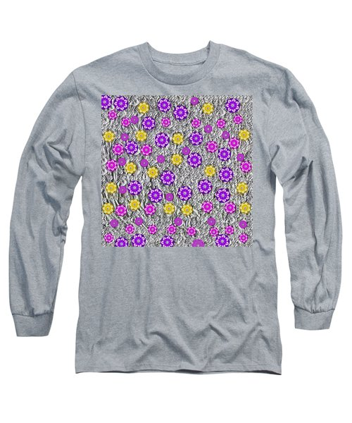 Floral Fantasy And Silver  Long Sleeve T-Shirt