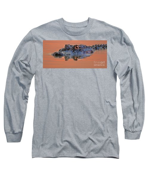 Long Sleeve T-Shirt featuring the photograph Alligator For Florida  by Luana K Perez