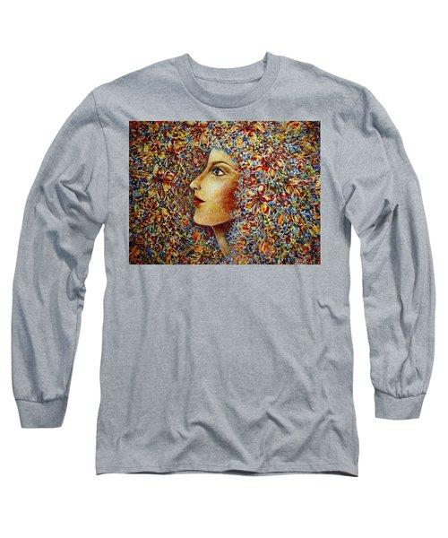 Flower Goddess. Long Sleeve T-Shirt by Natalie Holland