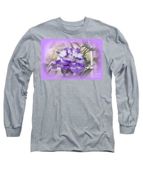 Long Sleeve T-Shirt featuring the photograph Flower In A Haze by Linda Prewer