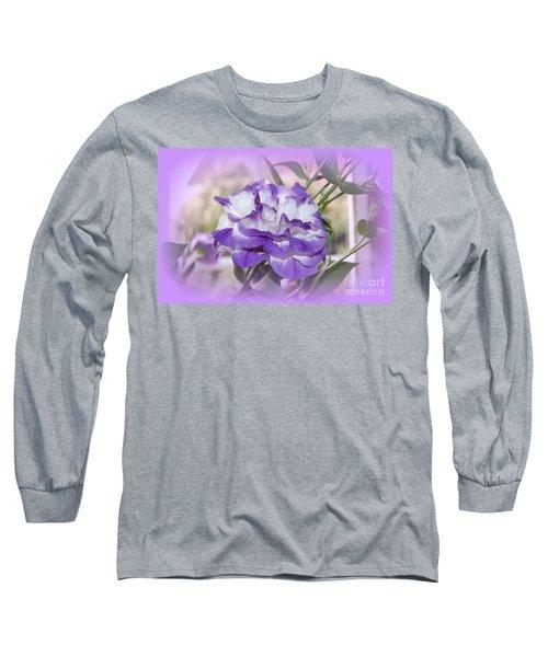 Flower In A Haze Long Sleeve T-Shirt by Linda Prewer