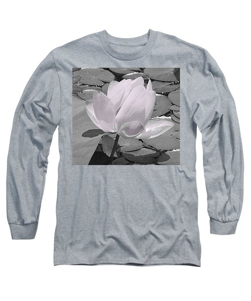 Flower Lilly Pad Long Sleeve T-Shirt by Steve Archbold
