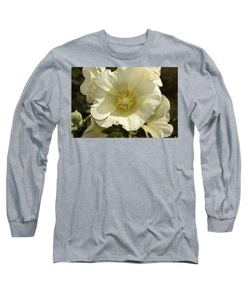 Flower Petals Of A White Flower Long Sleeve T-Shirt
