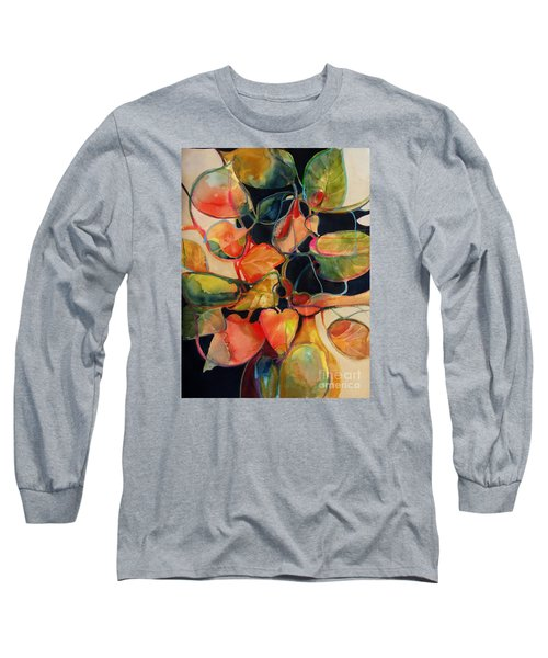 Long Sleeve T-Shirt featuring the painting Flower Vase No. 5 by Michelle Abrams