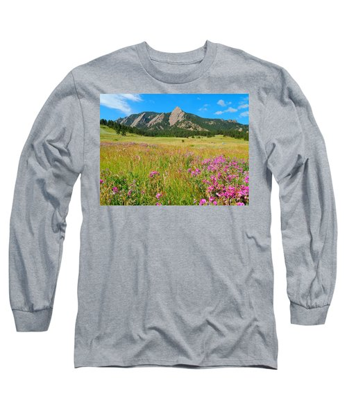 The Flatirons Colorado Long Sleeve T-Shirt by Dan Miller