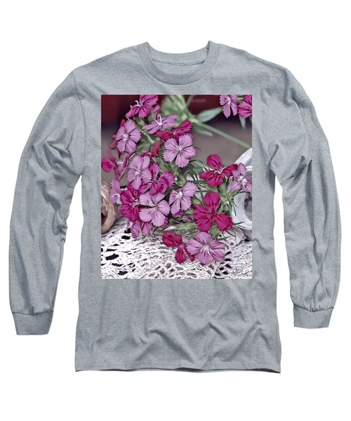 Flowers And Lace Long Sleeve T-Shirt
