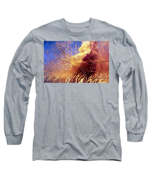 Long Sleeve T-Shirt featuring the photograph Flowers In Ice by Randi Grace Nilsberg